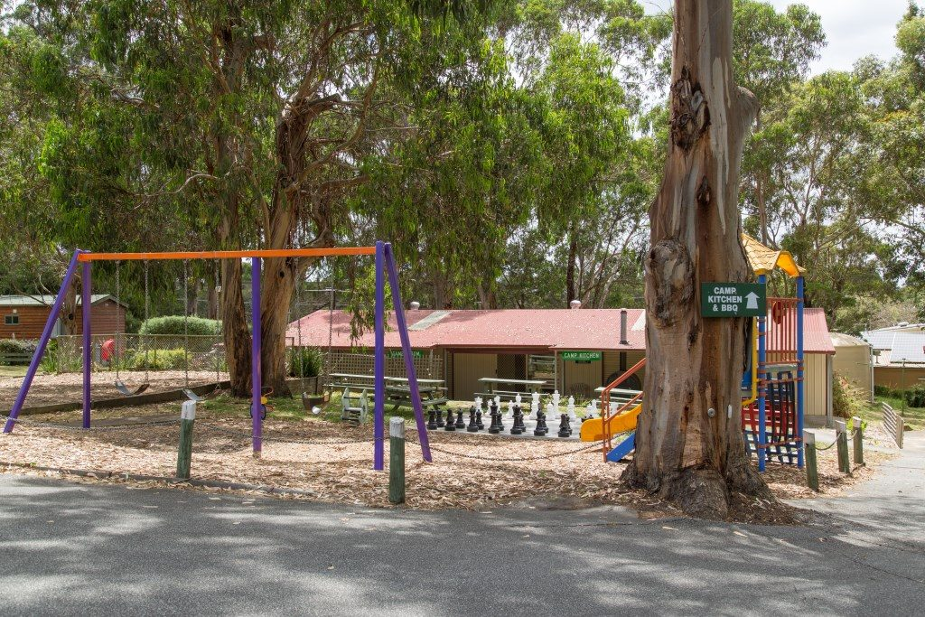 Oversize chees and playground for the younger ones at A Maze 'N Things Holiday Park and Motel
