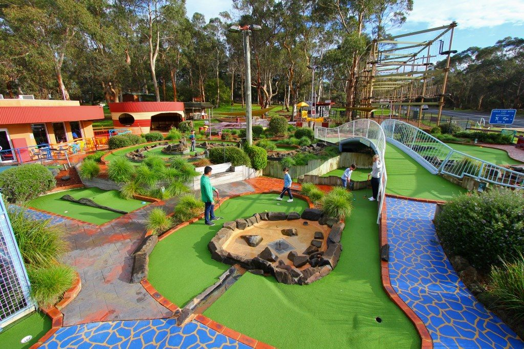 Multifly the fun on the Maxi Mini Golf at A Maze`N Things theme park