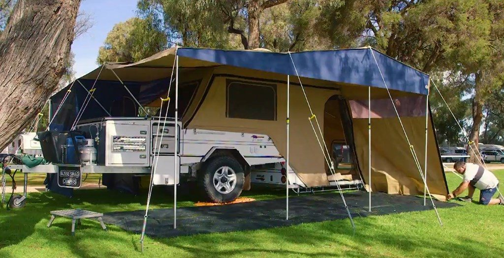 campsites large enough for camper trailers at the Apex RiverBeach Holiday Park