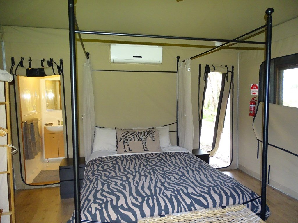 Full height glamping site at Belair National Park Holiday Park