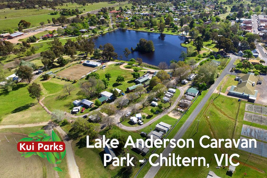 Lakeside camping at the Lake Anderson Caravan Park