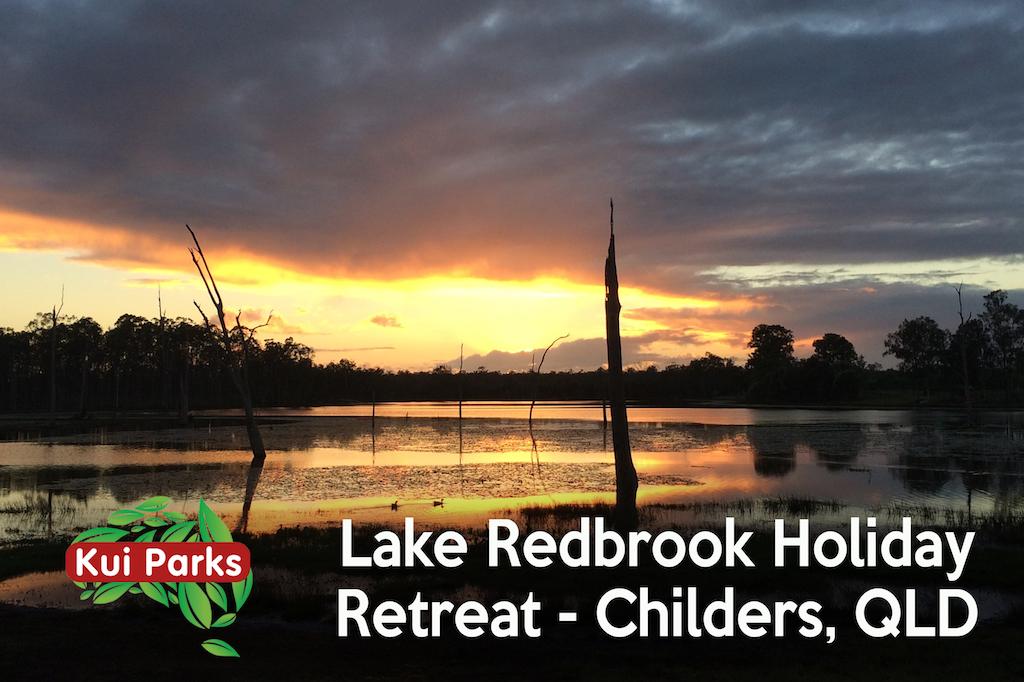 Beautiful sunset view at Lake Redbrook Holiday Retreat