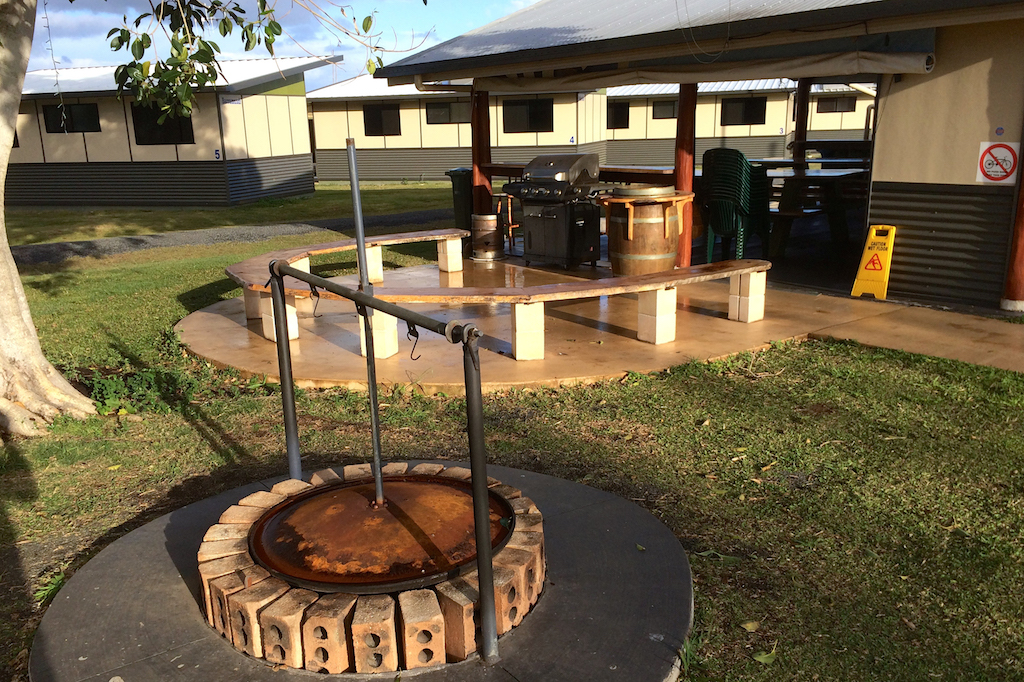 Lovely communal fire and barbecue facilities at the Lake Redbrook Holiday Retreat