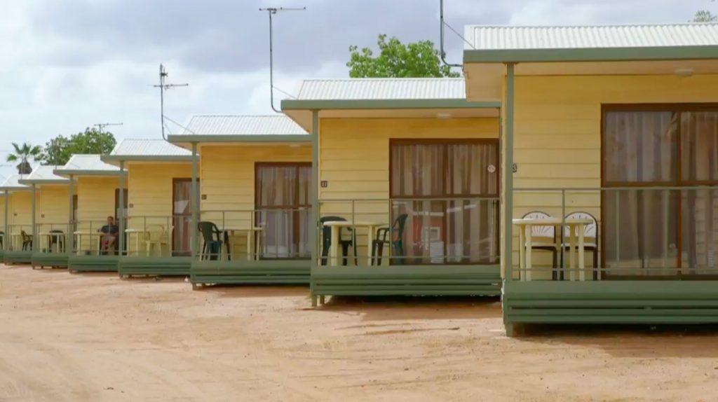 Cabins at Longreach Tourist Park with verandahs