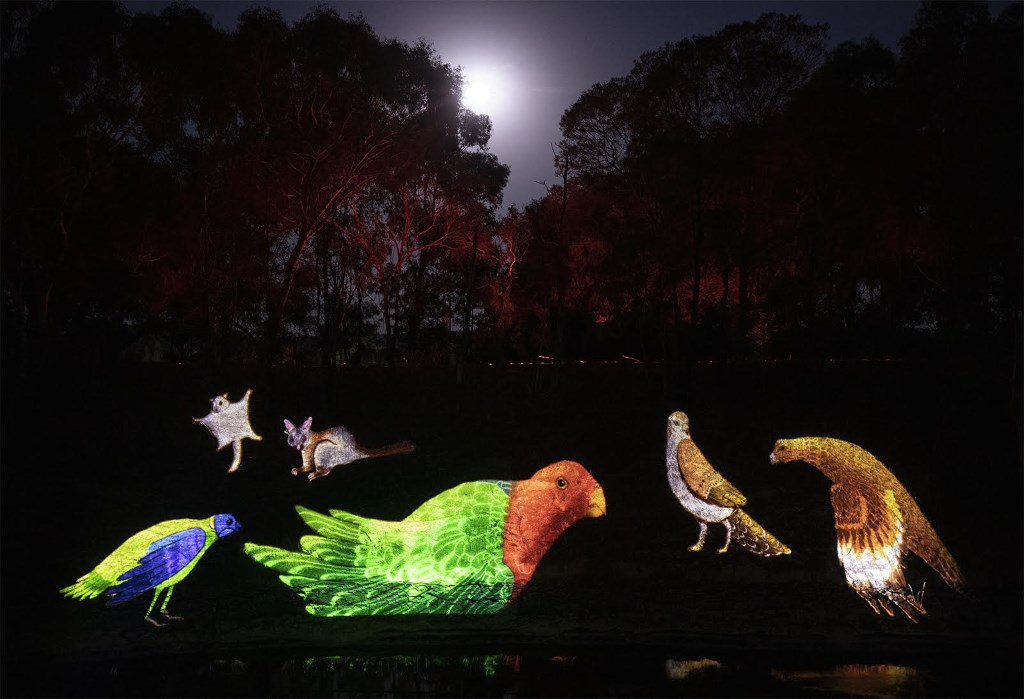 Watch the landscape change during the AURA light show at Sovereign Hill