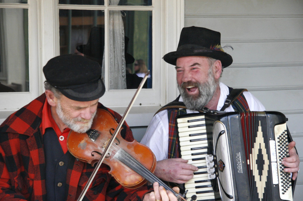 Busting a tune at Sovereign Hill