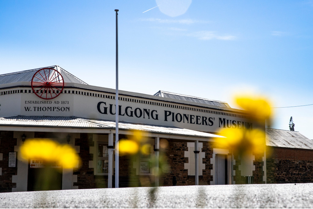 Exterior view of the Gulgong Pioneers Museum - home to one of the finest collections of Australiana in the country, Gulgong, and close to Gulgong Tourist Park, recently undergoing renovation