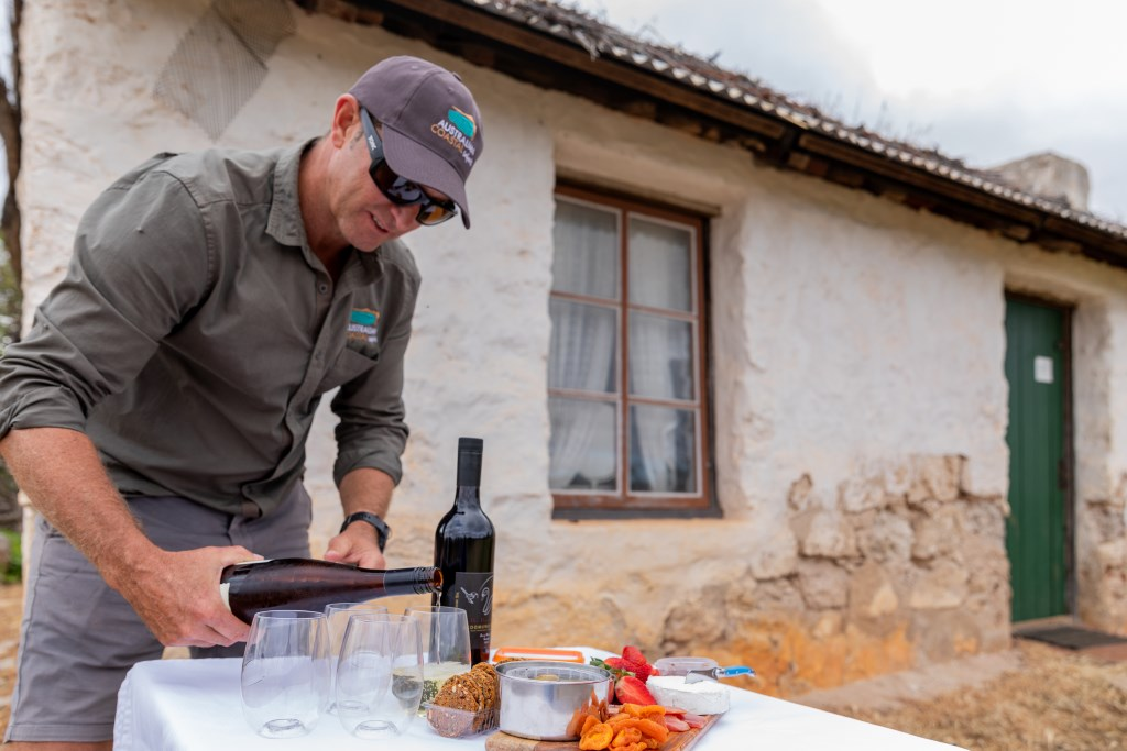 Dining after a day's play. Nothing better says David Doudle from Australian Coastal Safaris