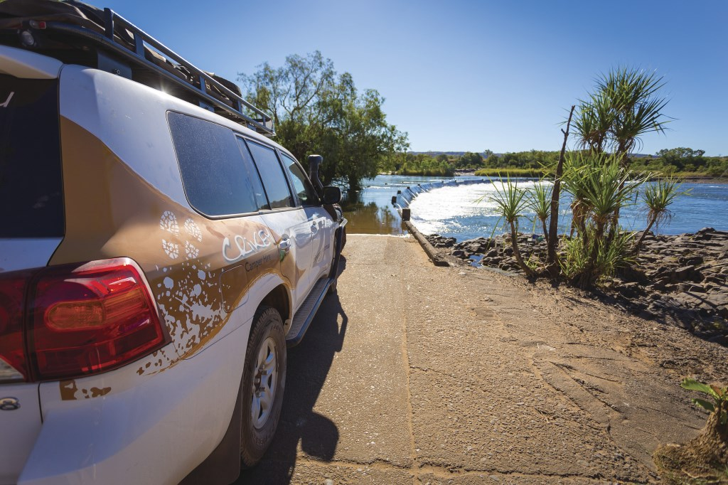 Holiday amid adventures: Ivanhoe Crossing is just 15 minutes from Kununurra
