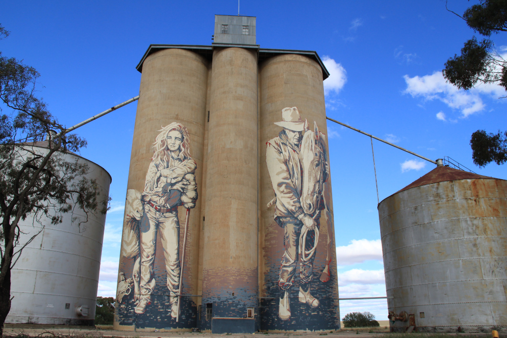 Rosebery Silos are about 15 minutes north of Beulah Creekview Caravan Park