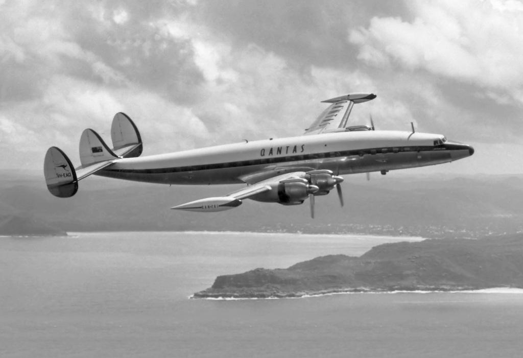 Qantas VH-EAD super constellation heyday