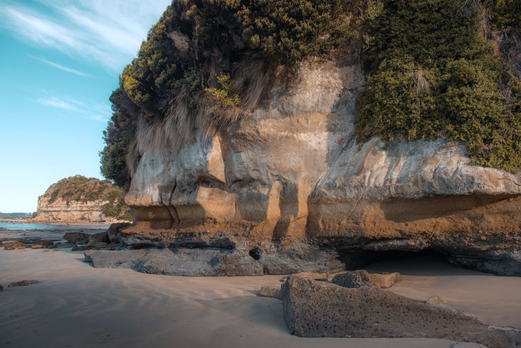 On your Wynyard holiday, head for Fossil Bluff and spot fossils within sandstone.