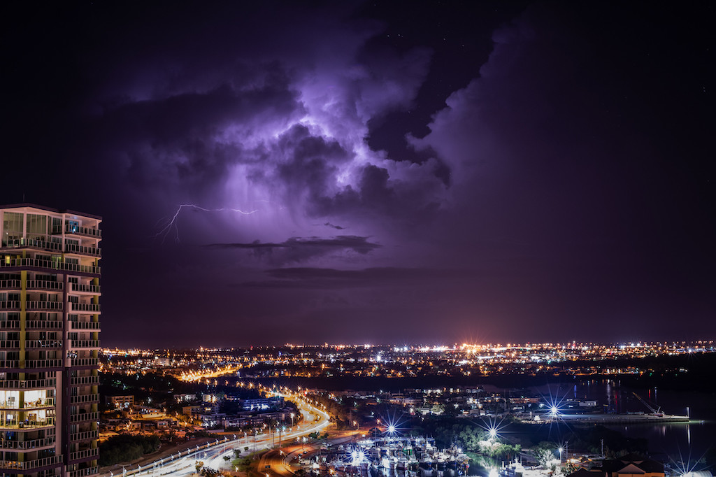 lightning bolt dances across the night skies over Darwin.<br /><br />From the sparkling harbour and WWII history to the city's Asian-influenced food and tropical outdoor lifestyle, Darwin is an adventurer's paradise.