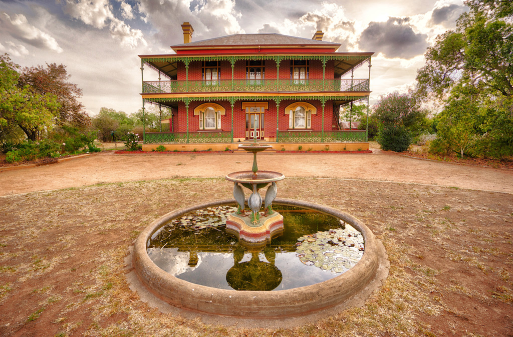 Exterior view of the historic Monte Cristo Homestead, Junee - dubbed the 'most haunted house' in Australia.