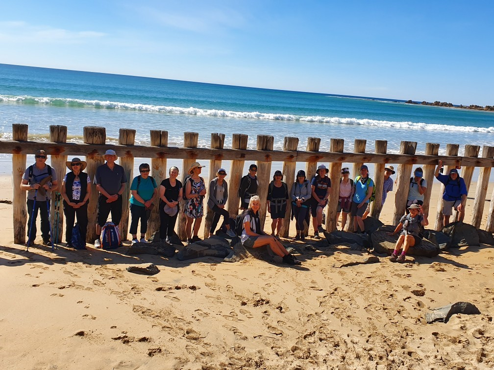 Walkers learn about local coast on the guided surf coast walk