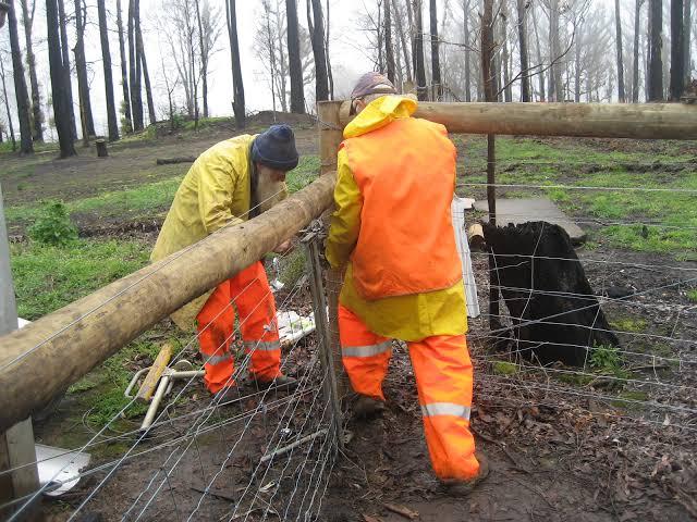 Volunteers working BlazeAid