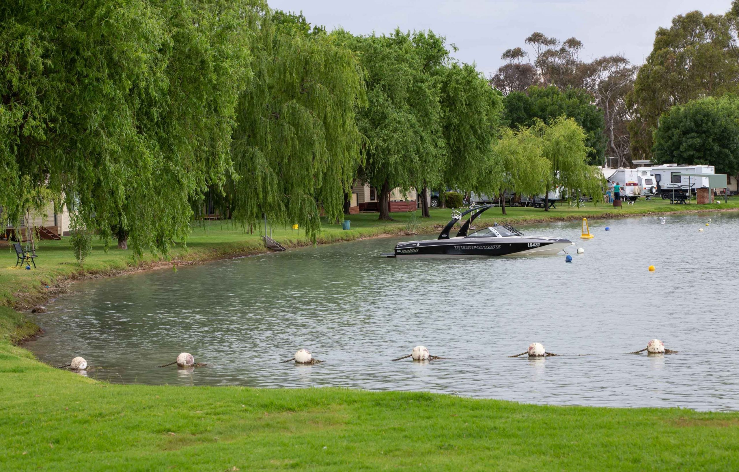 Little Boort Lake overlooking the popular Boort Lakes Holiday Park