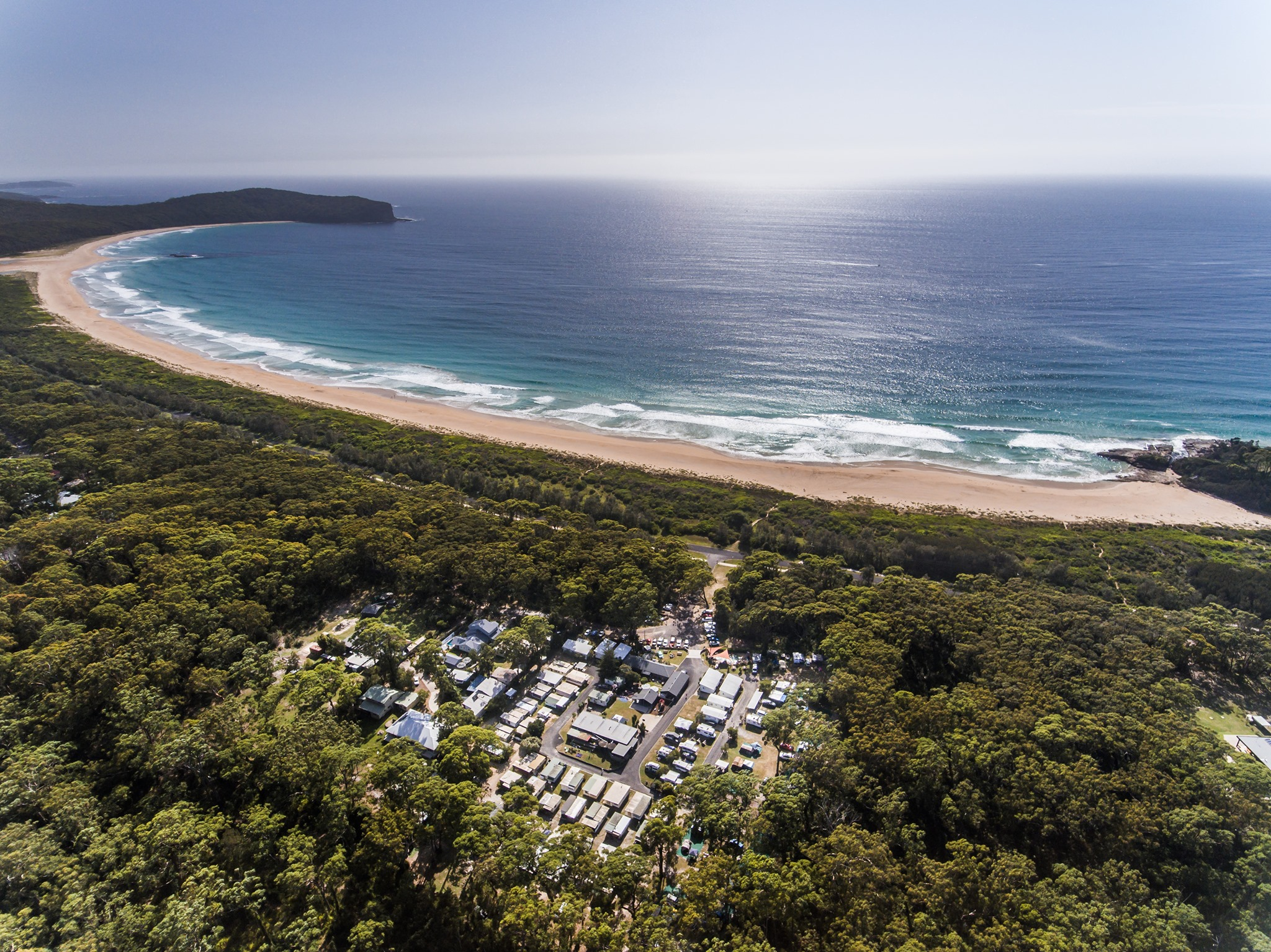 BIG4 South Durras Holiday Park is surrounded by water