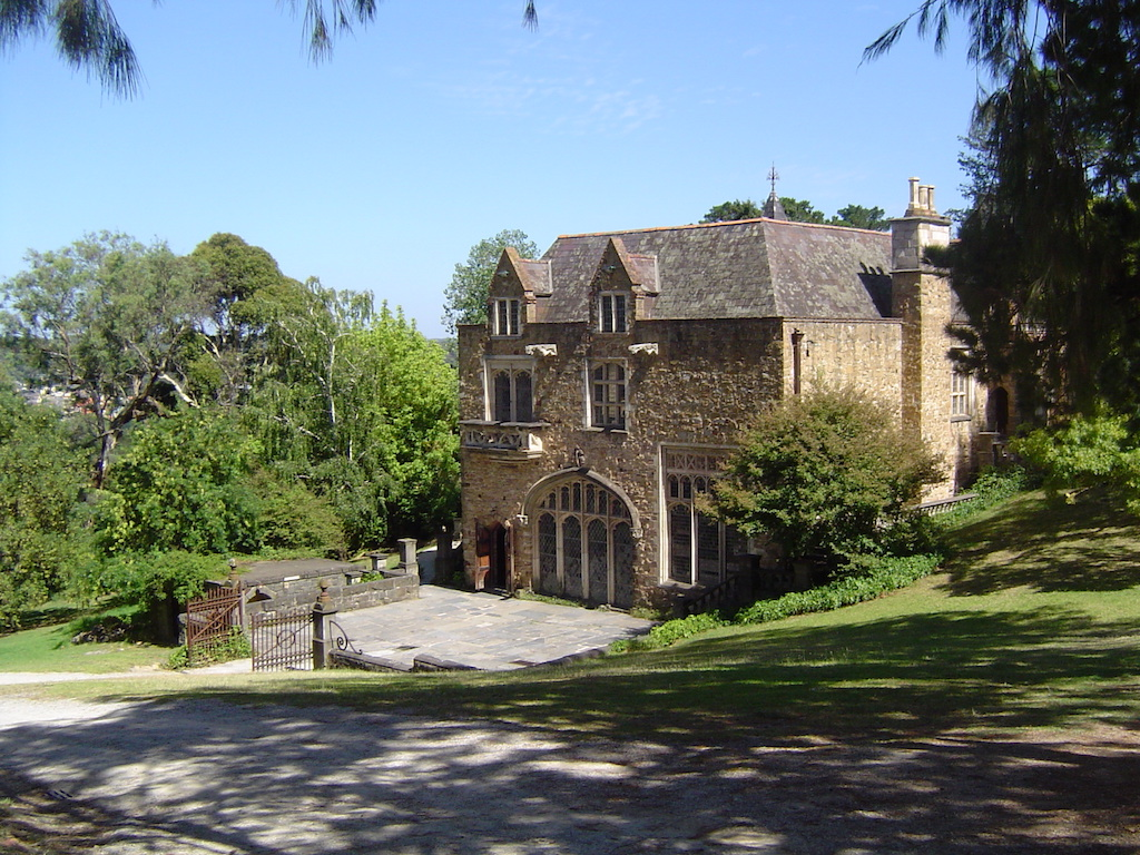 The Great Hall, Monsalvat is a short drive from Hurstbridge