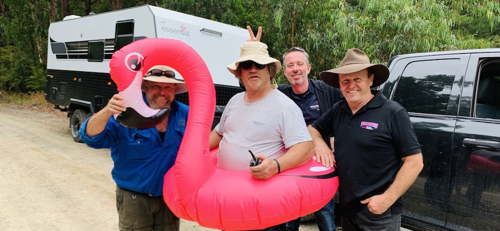 Flamingo fun with the What's Up Downunder team. When a lost GoPro caused grief mid-way through a 16 hour shift, Head of Production Tom new just exactly what was required to lift spirits
