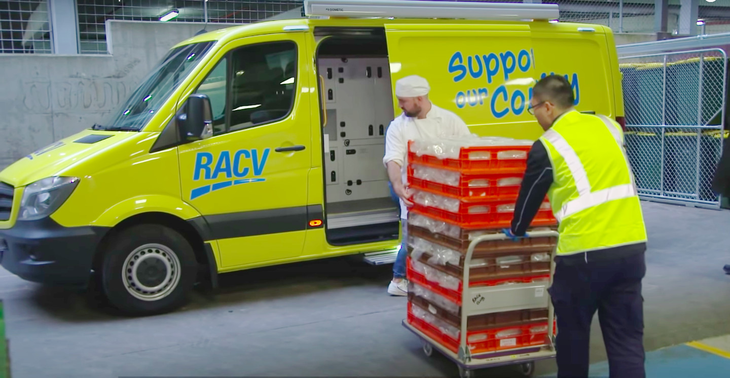 RACV modified former road side assist vans to catering standards