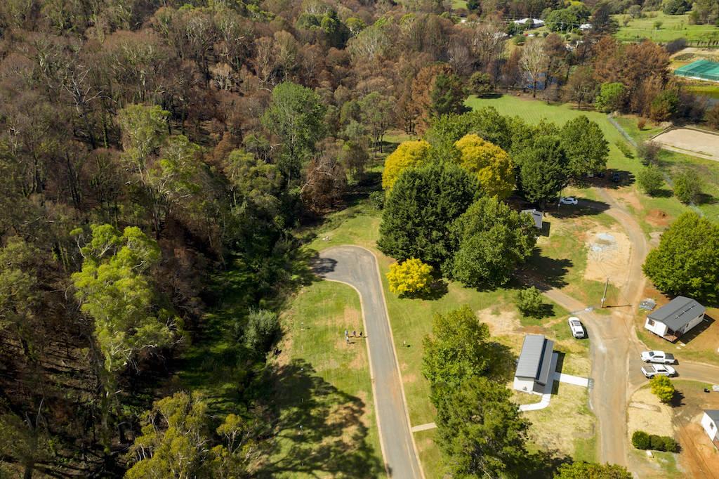 Batlow Caravan Park aerial view