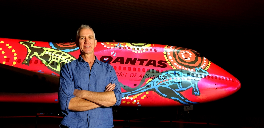 Tony Martin CEO Qantas Founders Museum, Luminescent Longreach