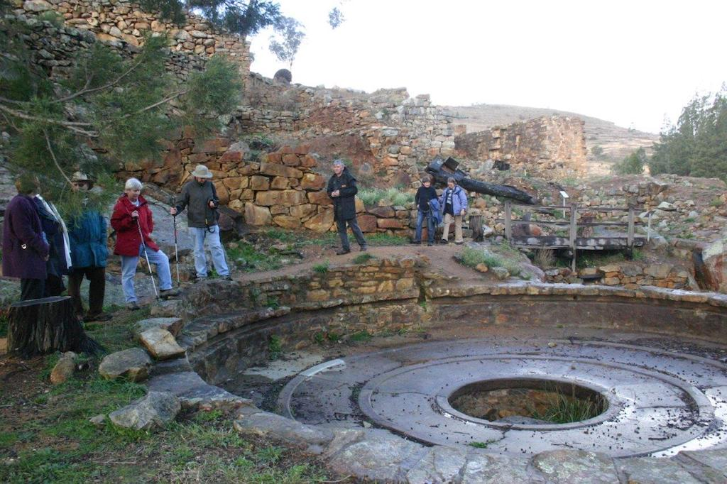 The water wheel powered the buddle to separate out the gold like a giant gold pan