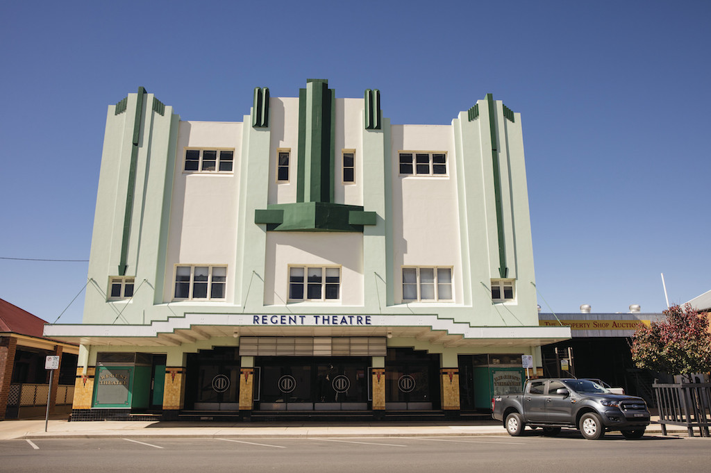 The historic art deco style Regent Theatre building in Mudgee, built in 1937.