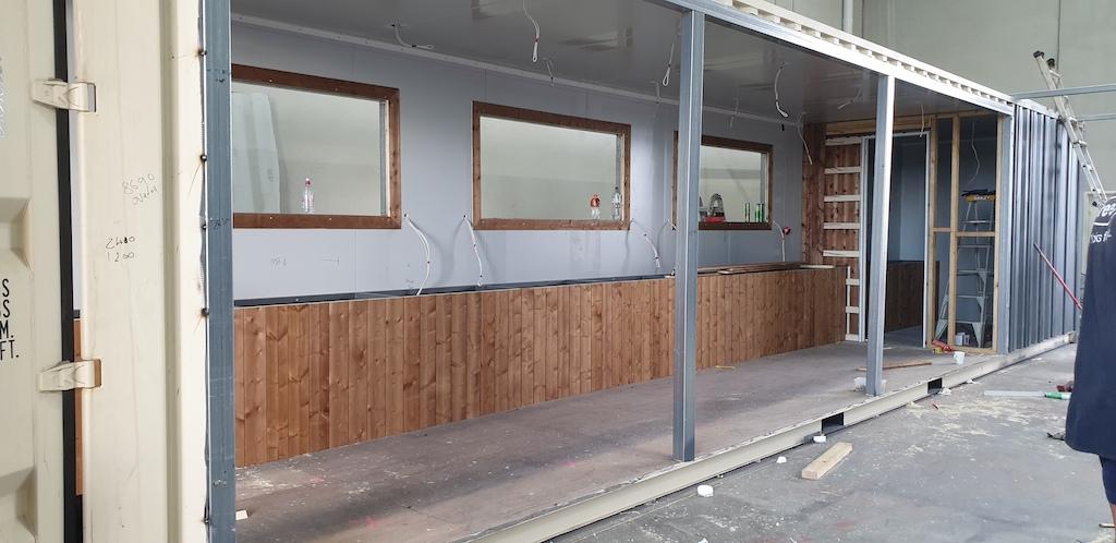 Building the BIG4 Wye River kitchen area in Pakenham