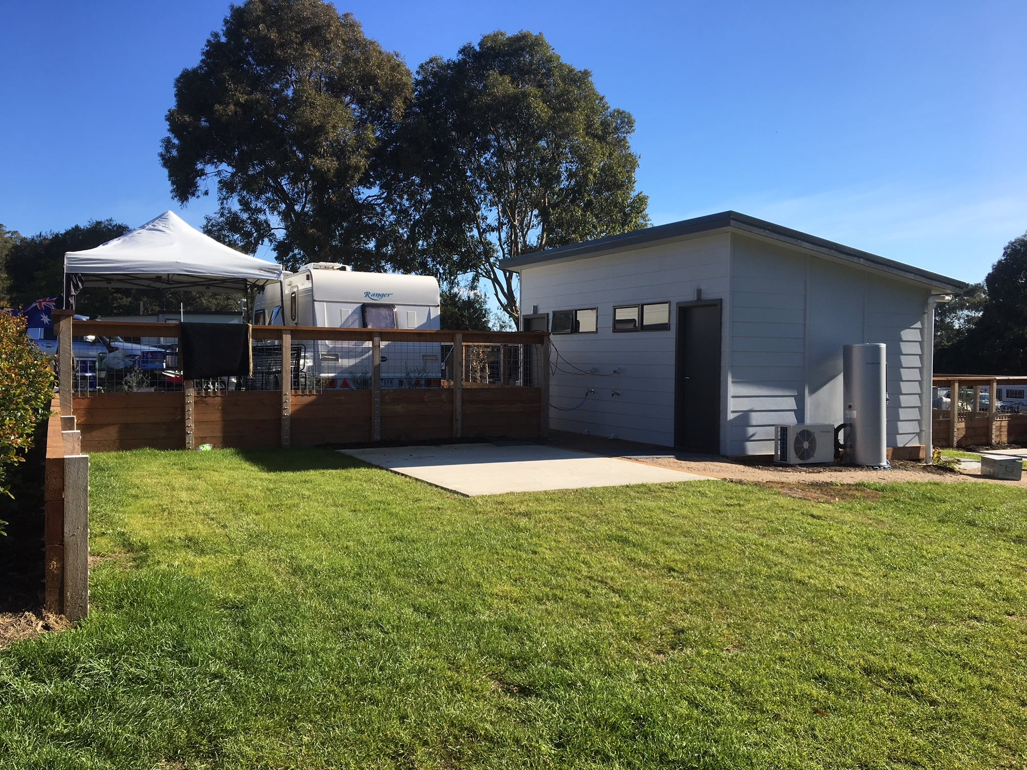 Twenty new ensuites provide campers access to private amenities during their stay at Lilydale Pines Hill Caravan Park