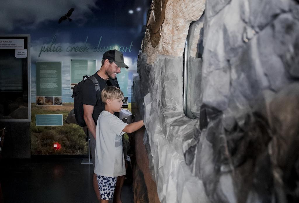 Family enjoying the Dunart exhibition
