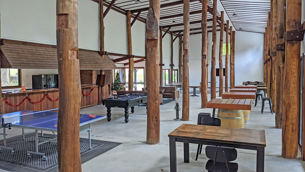 Timber Beams in the recreation room