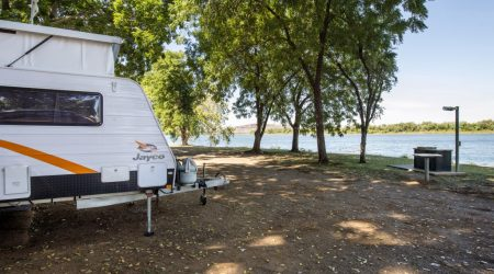Water views at the Discovery Holiday Parks - Lake Kununurra campsite
