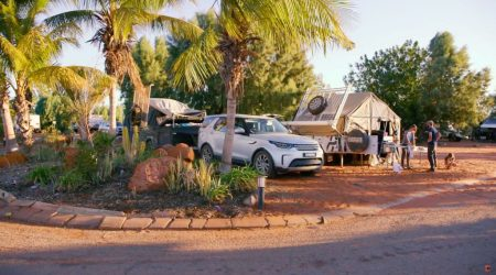 Shaded campsites in South Hedland Blackrock Tourist Park