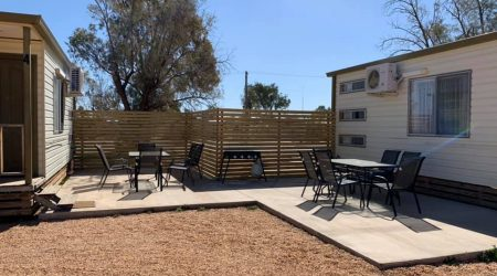 Gorgeous new barbecue areas at Lightning Ridge Holiday Park