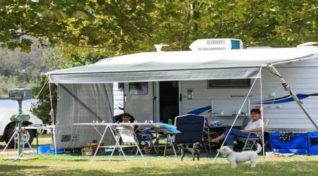 Large shaded campsites at the Reflections Eden Holiday Park