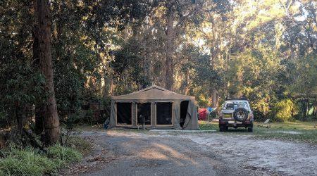 large campsites suitable folding canvas camper trailers at Rustic Caravan Park Bendalong