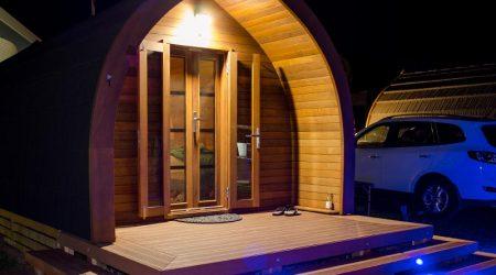Gorgeous wooden tent glamping at Port Vincent Foreshore Caravan Park