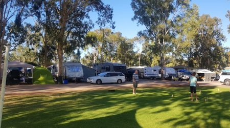 Public area at the BIG4 Blanchetown Riverside Caravan Park
