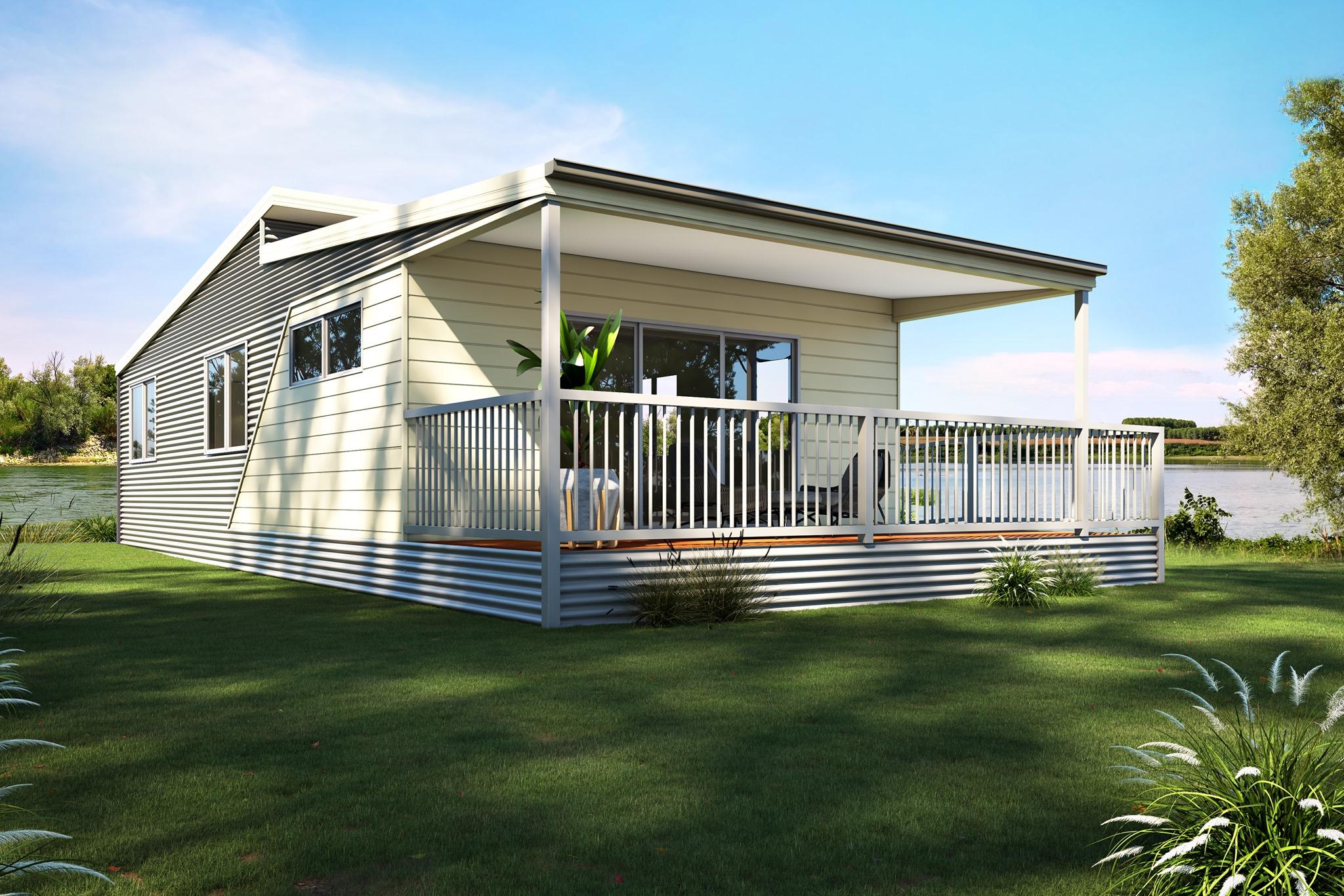 Riverbend Caravan Park 8-person cabin, artist impression